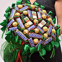 Букет из конфет для мужчины. Мужской букет. Подарок на 14 февраля. Букет на новый год. Новогодний подарок