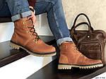 Мужские зимние ботинки Timberland (кирпичный), фото 3