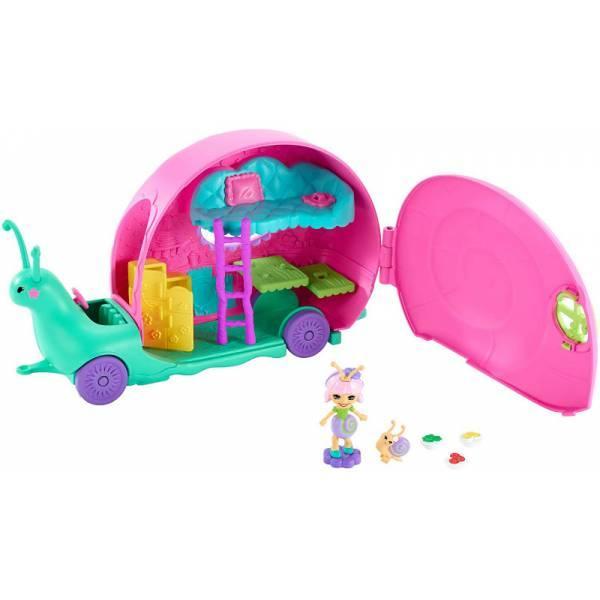 Enchantimals Домик на колесах Улитка кемпер GCT42 Slow-Mo Camper Vehicle Playset With Saxon Snail Doll