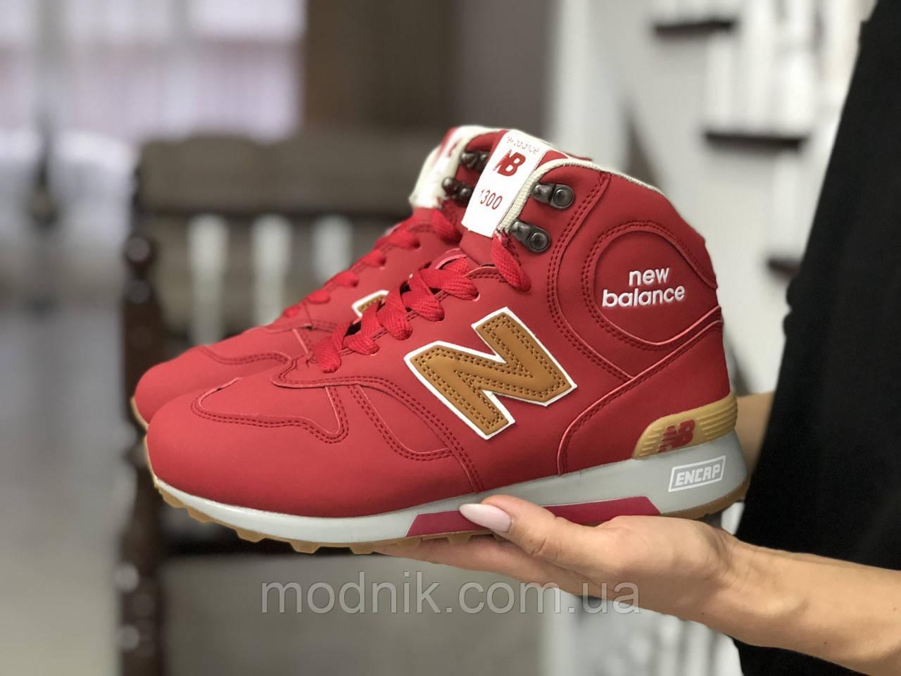 Женские зимние кроссовки New balance 1300 (красные)