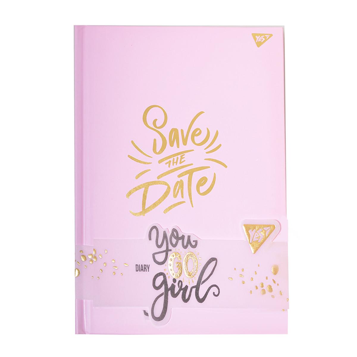 Блокнот для девочки Yes Save the date серии You GO girl, 140 х 210 мм, 152 л.    код: 151577