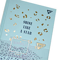 Блокнот-мотиватор YES Shine like a star серии Simpli City, 130 х 185 мм, 80 л., бирюз. 151591, фото 5
