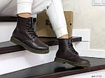 Женские зимние ботинки Dr. Martens 1460 (темно-коричневые), фото 2