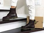 Женские зимние ботинки Dr. Martens 1460 (темно-коричневые), фото 4