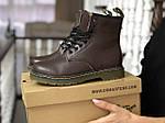 Женские зимние ботинки Dr. Martens 1460 (темно-коричневые), фото 6