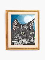 Схема для вышивки бисером Черный кот