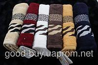 Комплект полотенец для лица (для бани, для сауны) Cestepe Zebra 100% Vip cotton махра 6шт Турция