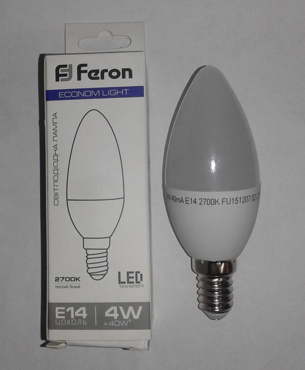 Светодиодная лампа 4w E-14 2700K 4W 320lm FERON / LB-720