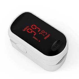 Пульсоксиметр Boxym C1 LED напалечный портативный пульсометр Белый (3818-10727a)