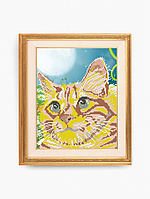Схема для вышивки бисером Рыжий кот