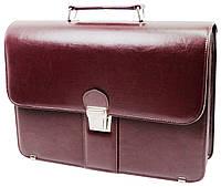 Деловой портфель женский из эко кожи AMO SST08 бордовый