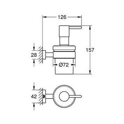 Дозатор жидкого мыла Grohe Essentials Cube 40756001, фото 2