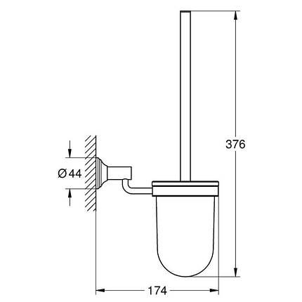 Туалетный ершик Grohe EX Essentials Authentic 40658001 в комплекте, фото 2