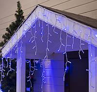 Гирлянда Бахрома Уличная 3х0,6 метра / Premium Prof Iceclude IP65 синий на белом кабеле