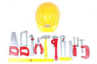 """Набор инструментов """"Tools Set"""" (11 инструментов и каска) 5873 Технок (TC55730)"""