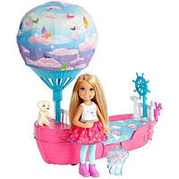 Barbie Челси и ее магическая летающая лодочка серии Дримтопия Chelsea Dreamtopia Vehicle