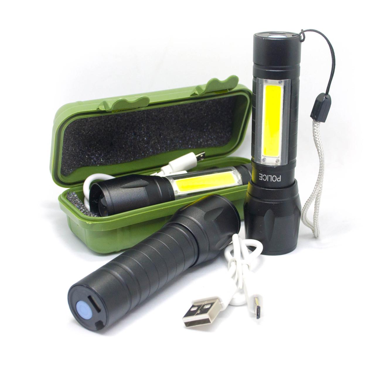 Фонарь аккумуляторный USB BL-509 ( ZOOM )