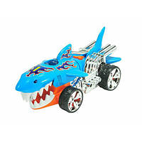 Hot Wheels Моторизированная машина акула Extreme Action Light and Sound Sharkruiser