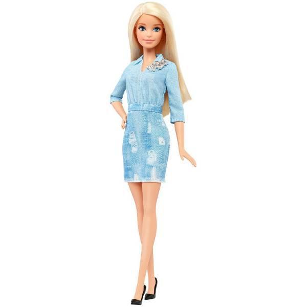 Barbie Барби Модница двойной взгляд Fashionistas 49 Double Denim Look Doll DVX71