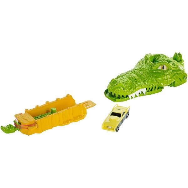 Hot Wheels Трек Укус Крокодила серии Город монстров Crocodile Crunch Track Set DWK96/DWK94