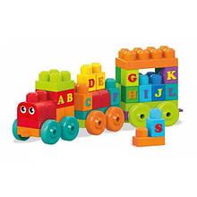Mega Bloks Конструктор Поїзд алфавіт 60 дет. ABC Learning Train Building Set DXH35