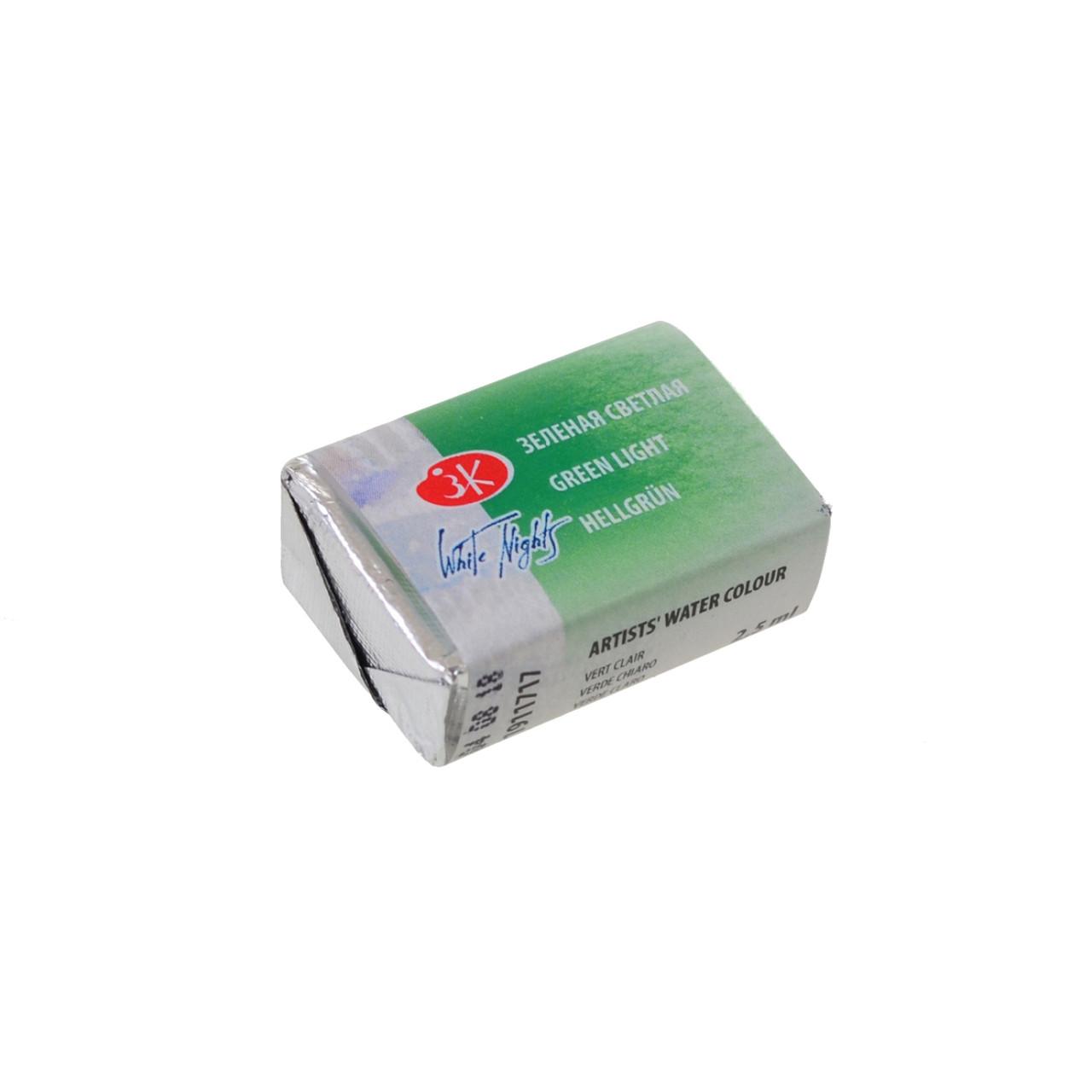 Краска акварельная КЮВЕТА, зеленая светлая, 2.5мл ЗХК код: 351153, арт.завода: 1911717