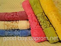 Комплект полотенец лицо (баня, сауна) Merzuka Kelebek desen Mikro delux 100% cotton махра 6шт Турция