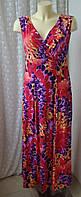 Платье женское летнее яркое стрейч макси бренд Joanna Hope р.46-48