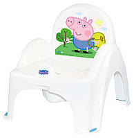 Горшок-стульчик Tega Peppa Pig PO-068 with music 103-N white-blue