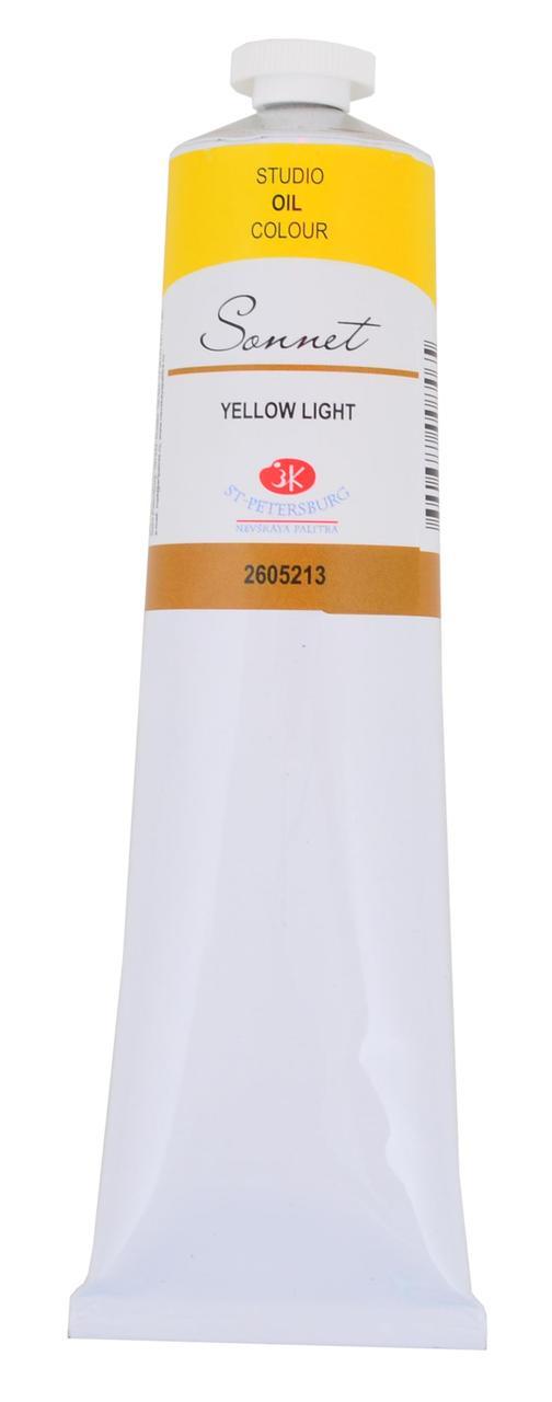 Краска масляная СОНЕТ желтая светлая, 120мл ЗХК    код: 352790, арт.завода: 2605213