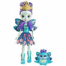 Enchantimals куколка с питомцем Павлина Patter Peacock Doll