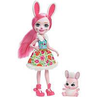 Enchantimals куколка с питомцем Бри  зайчик Bree Bunny Doll, фото 1