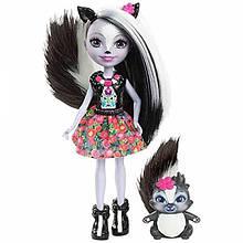 Enchantimals куколка с питомцем Скунсик Sage Skunk Doll DYC75