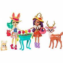Enchantimals Набор с куклой Данэсса с Оленем и Флаффи с кроликом Multipack Playset