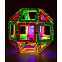 Magformers Магнитный конструктор с подсветкой 28 деталей Neon Blacklight Set 28-pieces, фото 1
