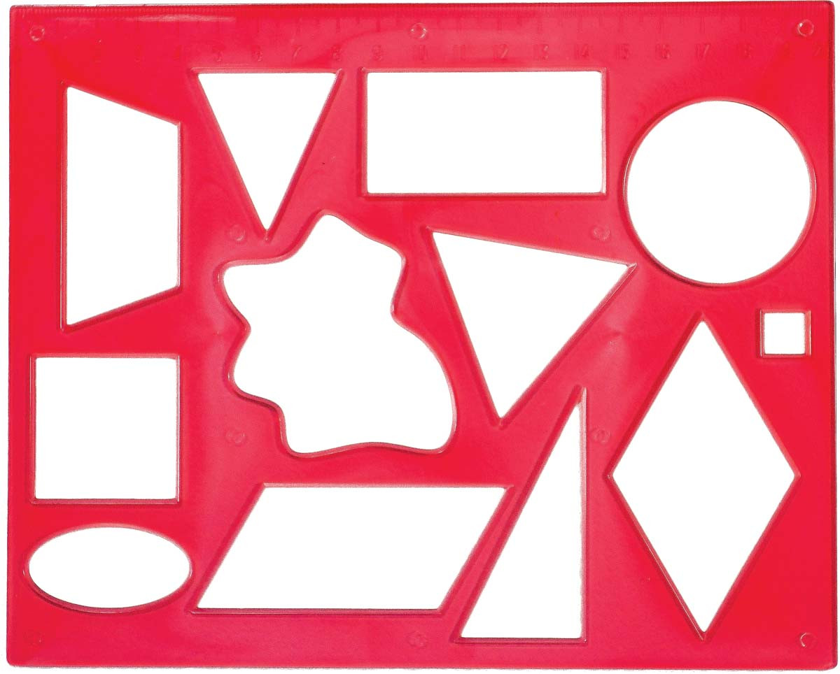 Трафарет геометрических фигур №2 12С837-08 код: 370178