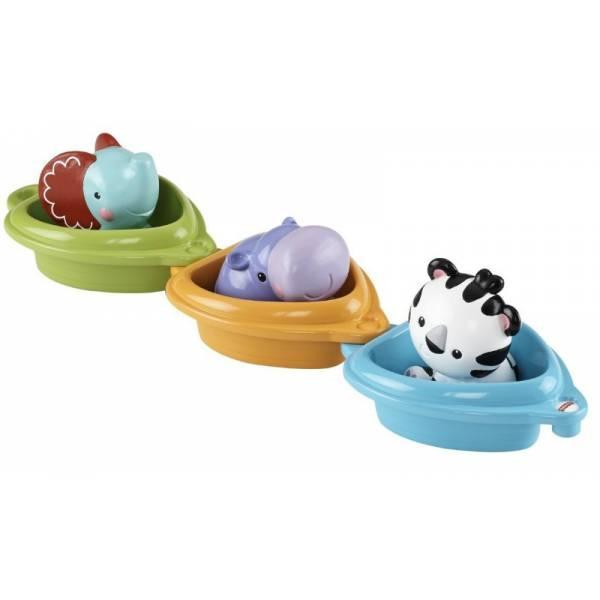 Fisher-Price Игровой набор купания в ванной Друзья в Лодочках Scoop 'n Link Bath Boats