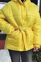 Куртка женская из плащевки с капюшоном (К29444), фото 1