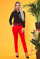 Красные брюки с 2 карманами
