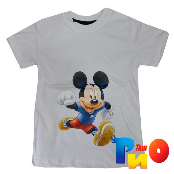"Летняя футболка яркая ""Микки"" , трикотаж , для мальчика 1-8 лет"