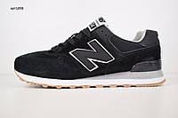 Мужские кроссовки в стиле New Balance 574 черные, фото 1