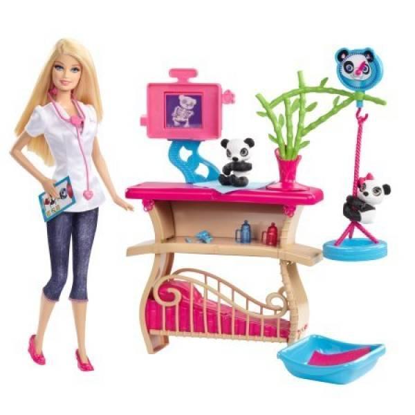 Barbie Барби из серии я могу быть Смотритель Панды врач Careers Panda Caretaker Playset