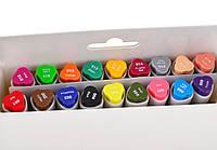 Набор скетч-маркеров для рисования двусторонних Santi sketchmarker , 12шт/уп     код: 390527