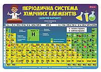 Подложка для стола детская Таблица Менделеева    код: 491473