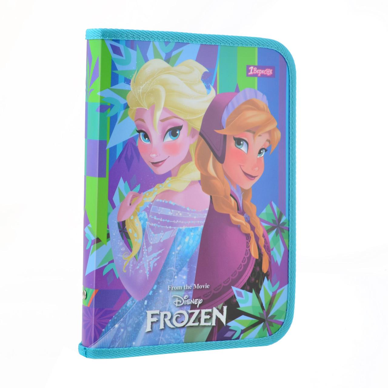 Папка для тетрадей пласт. на молнии В5 Frozen    код: 491580