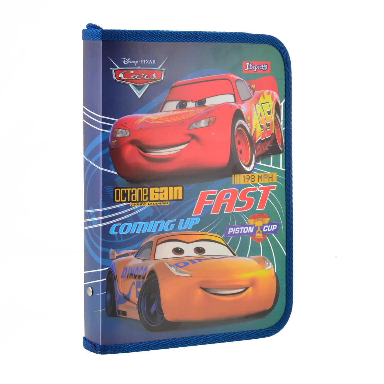 Папка для тетрадей пласт. на молнии В5 Cars код: 491583