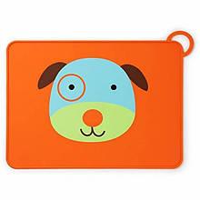 Skip Hop Силиконовый коврик подстилка для еды Собачка Zoo Fold Go Silicone Kids Placemat Darby Dog