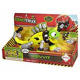 Mattel Динозавр хамелион Динотракс Реввит со звуковыми эффектами Dinotrux Friend Revvit Vehicle, фото 3