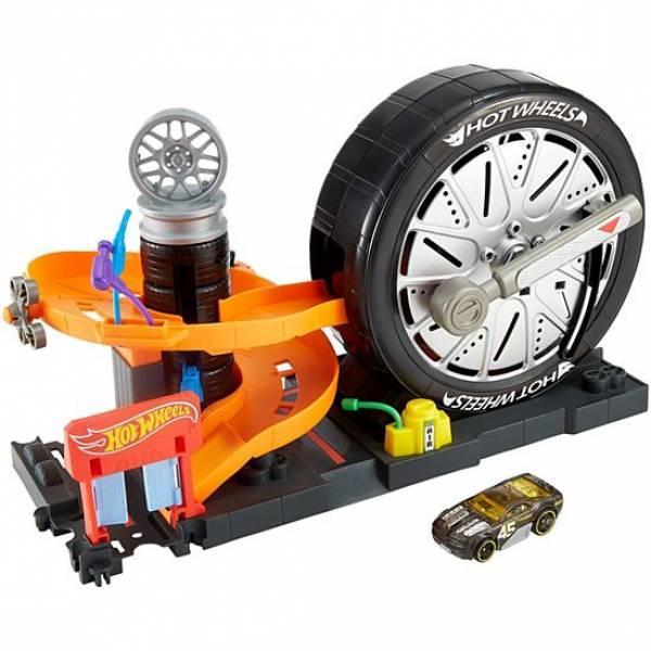 Hot Wheels Трек Шиномонтажная мастерская Fnb17 City Super Spin Tire Shop Playset