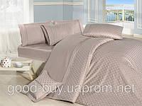 Комплект постельного белья First choice  Vip Сатин Жаккард SVip 38 Armoni Pudra